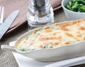 Spinach, Egg, and Herb Gratin