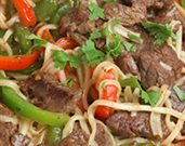 Asian Lamb Noodle Salad with Peanuts