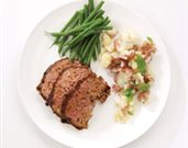 Balsamic-Glazed Lamb Meatloaf with Sun-dried Tomato Pesto