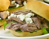 Braised Lamb and Goat Cheese Sliders