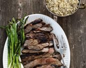 Grilled Butterflied Leg of Lamb