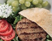 Gyro-Burger with Yogurt Sauce