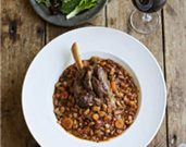 Braised Lamb Shanks with White Beans and Tomatoes