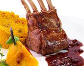 Lamb Chops with Pomegranate Herb Sauce