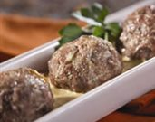 Lamb Meatballs with Saffron-Almond Sauce