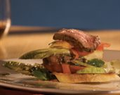 Lemon-Herb Rubbed Butterflied Leg of Lamb Bread Salad