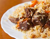 Mandarin Lamb Brochette with Orange Rice Pilaf