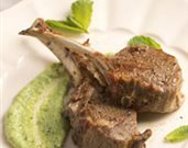 Mint Chimichurri Marinated Lamb Chops