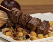 Moroccan-Spiced Lamb Kebobs with Summertime Fruit Chutney