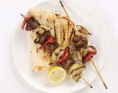 Spicy Lamb Kebabs with Bell Peppers and Sweet Onions