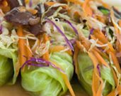 Spicy Lemongrass-Lamb Lettuce Wraps
