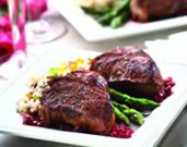 RecipeIndexCallout$master.k.m.us.ALB Table for Two Lamb Loin Chops with Madeira and Cherries Healthy Eating