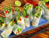 Asparagus Spring Rolls with Sweet Red Chili Dipping Sauce
