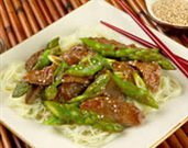 Asparagus and Lamb Stir Fry