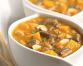 Autumnal Lamb Stew with Red Kuri Squash and Almonds