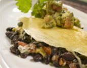 Black Bean Omelet with Avocado Salsa Verde