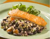 Roasted Salmon with Black Bean-Quinoa Salad