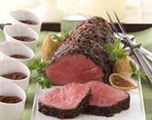 Fig-Cocoa Glazed Beef Tenderloin
