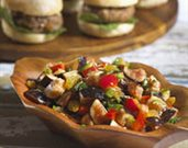 Turkey Sliders with California Pepper Fig Salsa