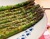 Roasted Asparagus with Red Onions and Feta