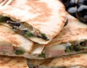 Charred Poblano Pork Quesadillas