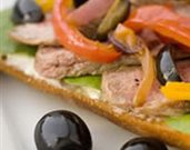 Olive Pip�rade Steak Tartine