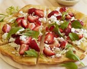 Strawberry and Goat Cheese Pizza