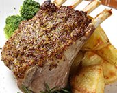 Crusty Almond Lamb Rack Chops