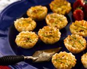 Bacon Onion Quiche Bites