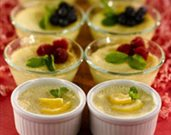 Springtime Baked Lemon Custard