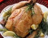 Brined and Roasted Chicken with Lemon