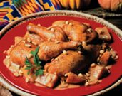Chicken Baked with Pumpkin and Peanuts