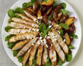 Panko Crusted Chicken Salad with Pomegranate Balsamic Dressing