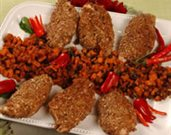 Pecan Encrusted Chicken with Sweet Potato Chutney