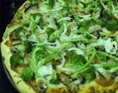 Broccoli and Portobello Mushroom Pizza