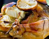 Fennel, Lemon, and Thyme Roasted Chicken