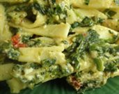 Sun-dried Tomato and Spinach Pasta