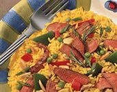 Grilled Lamb Salad Paella