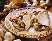 Grilled Mushrooms and Pepper Fajitas