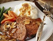 Meatloaf with Mushroom Sauce