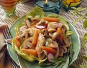 Warm Mushroom and Chicken Salad Provençal