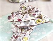Chocolate Cranberry Pistachio Bark