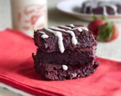 Healthy Vegan Red Velvet Brownies