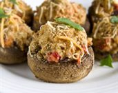 Roasted Red Pepper-Stuffed Mushrooms