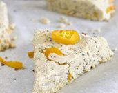 Vegan Kumquat Poppy Seed Scones