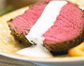 Herb Crusted Beef Tenderloin with Horseradish Cream Sauce