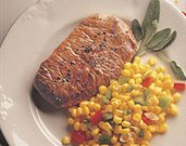Beef Steaks with Tangy Corn Relish