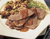 Braised Beef with Mushrooms & Barley
