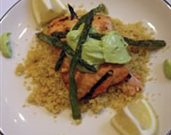 Grilled Salmon with Avocado Tarragon Sauce