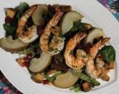 Grilled Shrimp and Roasted Pear Salad
